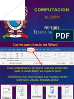 Presentación Pestaña Correspondencia de Word