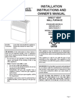 Housewarmer LP Gas Heater Manual