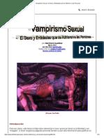 Vampirismo Sexual - El Sexo y Entidades Que Se Adhieren a Las Personas
