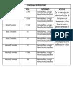 Cronograma de Proselitismo