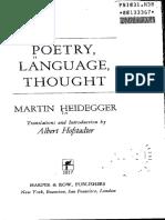 Heidegger, The Thing