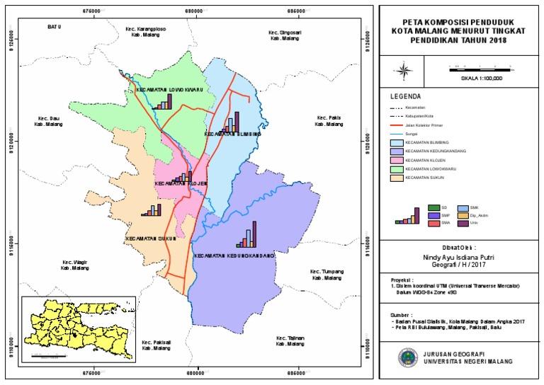 Peta Komposisi Penduduk Kota Malang Menurut Tingkat Pendidikan Pdf