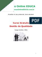 Curso - Gestão Da Qualidade II - EDUCA