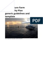 Aquaculture Farm Biosecurity Plan