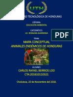 mapa conceptual animales endemicos de honduras