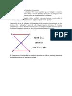 Teorema de Semejanza de Triángulos