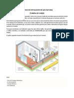 Proceso de Instalacion de Gas Natural