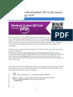 Membuat Dan Menampilkan QR Code Secara Dinamis Dengan PHP