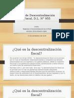 Análisis de La Ley de Descentralización Fiscal,
