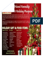 Orland Township 2018 Holiday Program