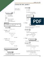 ALG 2 - Ecuaciones 1er Grado