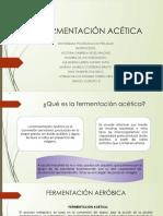 fermentación acética