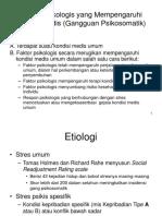 Faktor Psikologis Yang Mempengaruhi Kondisi Medis (Gangguan