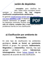 Clasificación de Depósitos