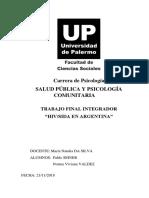 VIH SIDA en Argentina Salud Publica