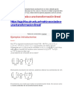 Matematica Transf Lineal Ejercicios