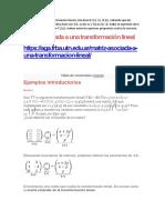 Matematica Transf Lineal Ejercicios
