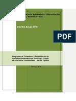 Informe Anual 2016 Libertad Vigilada SENDA