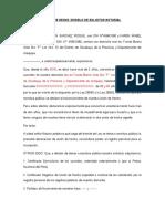 MODELO DE SOLICITUD NOTARIAL
