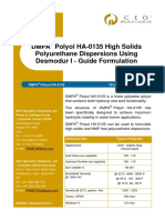 High Solid PU Dispersion Formulation