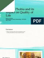 dental phobia and its impact on quality of life final presentation  1