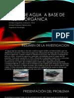 Filtro de Agua a Base de Piedra Orgánica