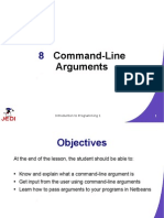 JEDI Slides Intro1 Chapter 08 CommandLine Arguments