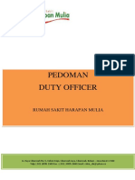 Pedoman Duty Officer