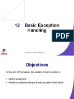JEDI Slides Intro1 Chapter 12 Basic Exception Handling