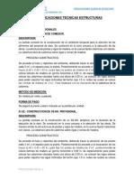 1 Especificaciones Técnicas Estructuras