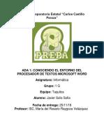 ADA 1. Sofia Javier