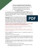 Resumen Del Proceso Judicial Penal en Honduras