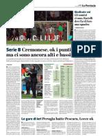 La Provincia Di Cremona 03-12-2018 - Serie B