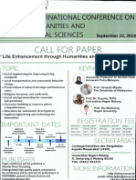 Poster International Conference on Humanities and Social Sciences