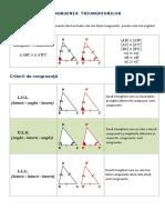 Cls.6 - Congruenta Triunghiurilor