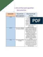 Formato de Archivo Para Guardar Documentos