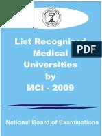 MCI List Natoard 2009