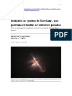 Nungesser, Ernesto; Timón, Ágata A. - Hallados los 'puntos de Hawking', que podrían ser huellas de universos pasados