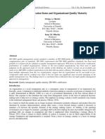 ISO Organizational Quality Maturity
