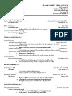resume november 2018