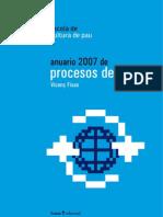 Anuario 2007 de Procesos de Paz