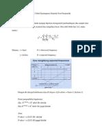 Uji Untuk k Populasi Dengan Tabel Kontingensi Statistik Non parametrik