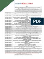 Btech Vlsi Major Project List