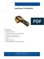 ThermalTronix TT ET2W HTI Datasheet - HANDHELD INSPECTION INSTRUMENTS