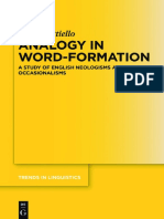 (Trends in Linguistics. Studies and Monographs [Tilsm] 309) Mattiello, Elisa-Analogy in Word-Formation _ a Study of English Neologisms and Occasionalisms.-de Gruyter Mouton (2017)
