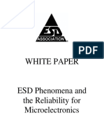 ESD Phenomena and the Reliability for Microelectronics