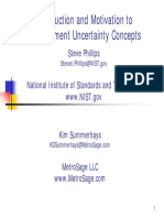 Measurement Uncertainty SDP