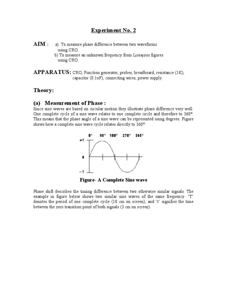 Exp 2 | Phase (Waves) | Electronics