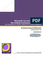 Lync Server 2010 Survery by Osterman Research