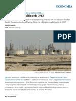 Qatar Anuncia Su Salida de La OPEP _ Economía _ EL PAÍS